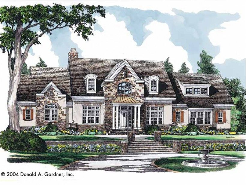 Charming French Country European House Plans #5: Floor Plan ...