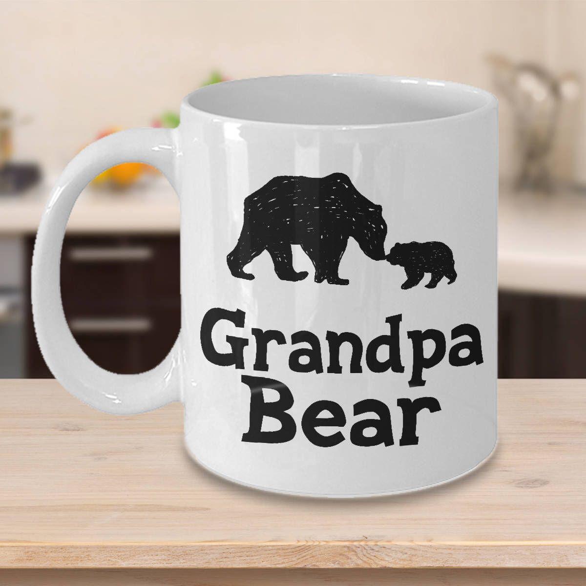 Grandpa bear mug gift for grandfather 11 oz or 15 oz