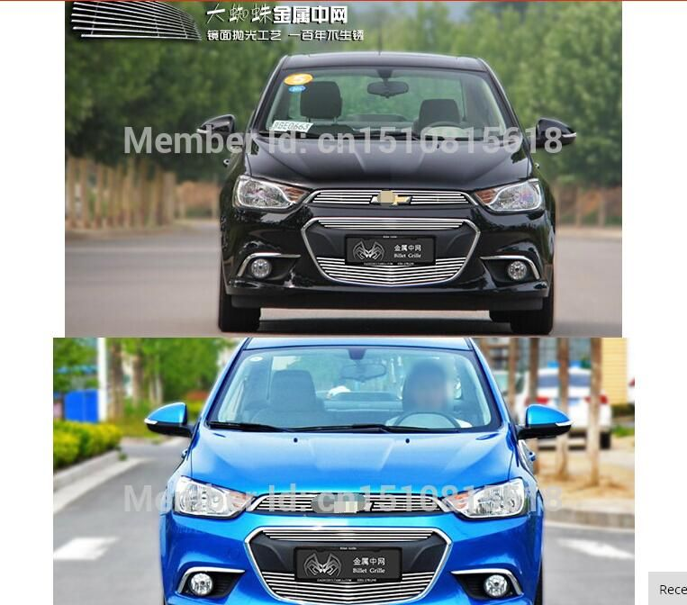 Stainless Steel Car Front Bumper Mesh Grille Around Trim Racing Grills 2014 2016 For Chevrolet Aveo Quality Chevrolet Aveo Car Front Car
