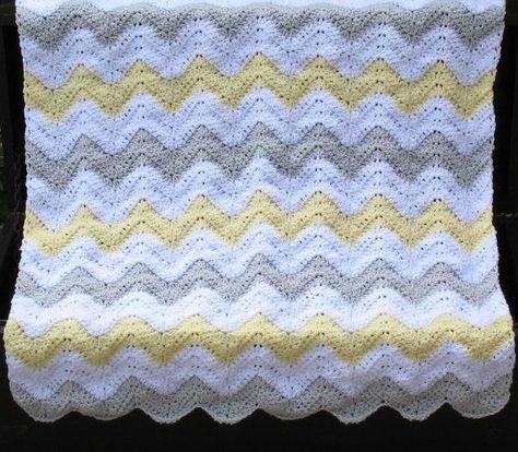 Resultado De Imagen Para Chevron Baby Blanket Tricot Pinterest