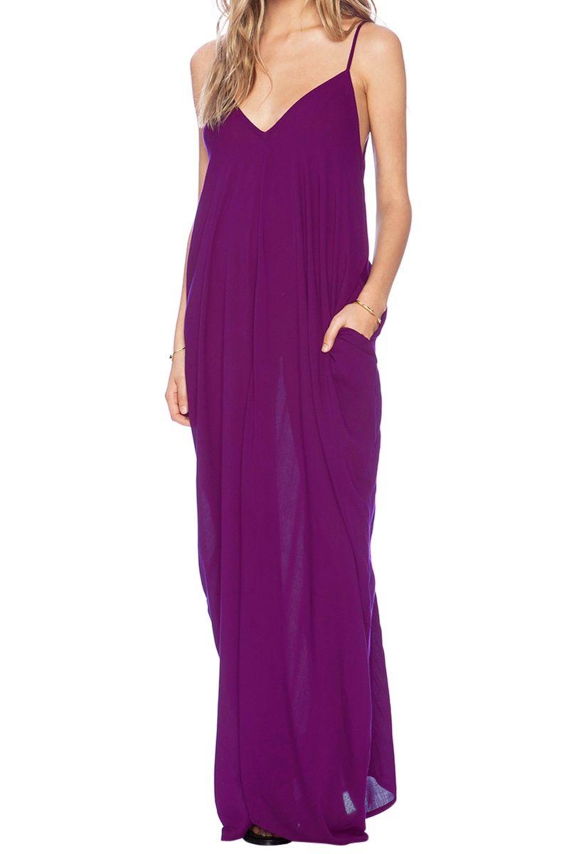 Spaghetti Strap Loose-Fitting Maxi Dress   Moda Mujer: Streetwear ...