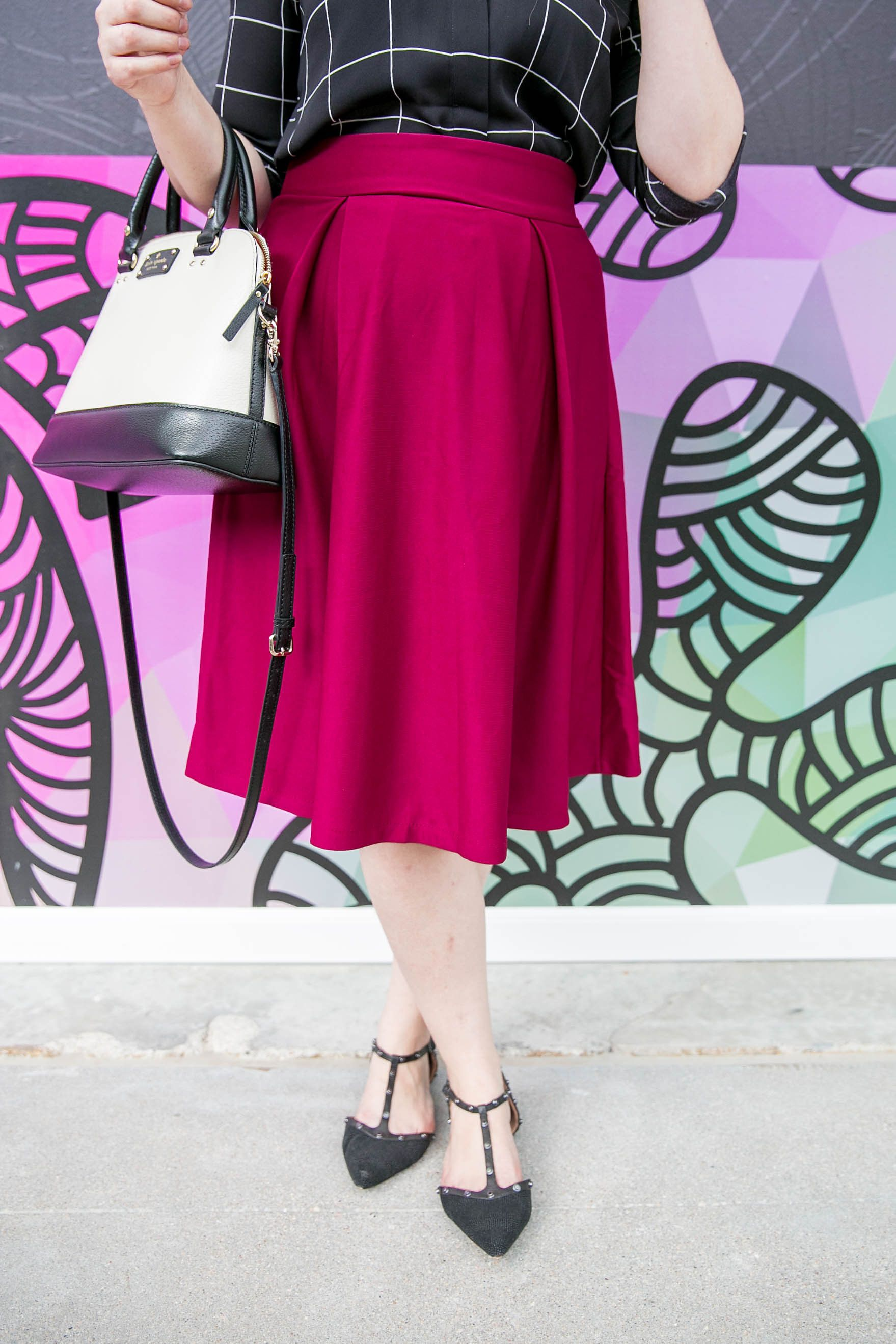 What This Mama Wore: Marsala Midi Skirt U0026 A Linkup!   Beauty And The