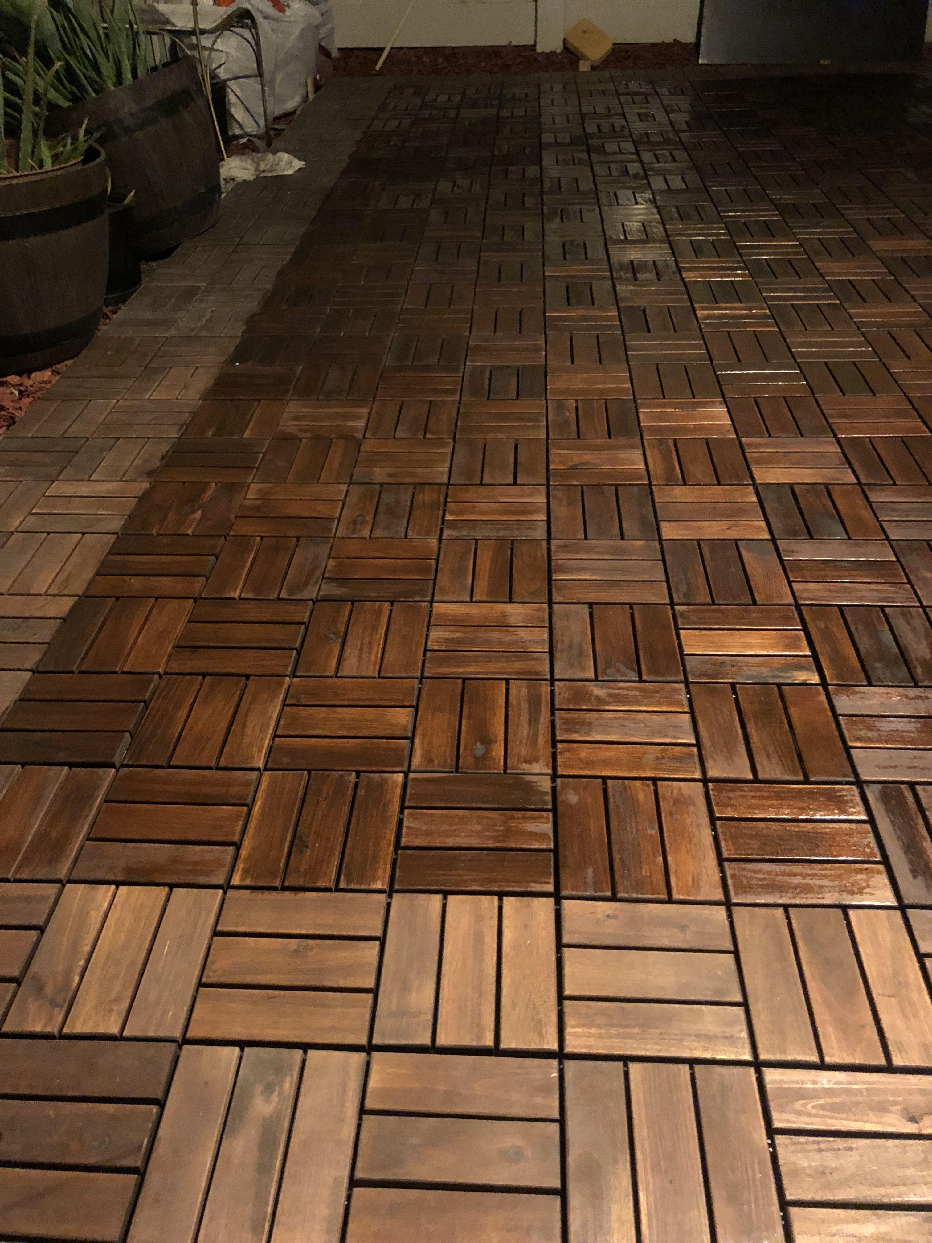 Diy Outdoor Patio Decking With Ikea Platta Patio Flooring Patio