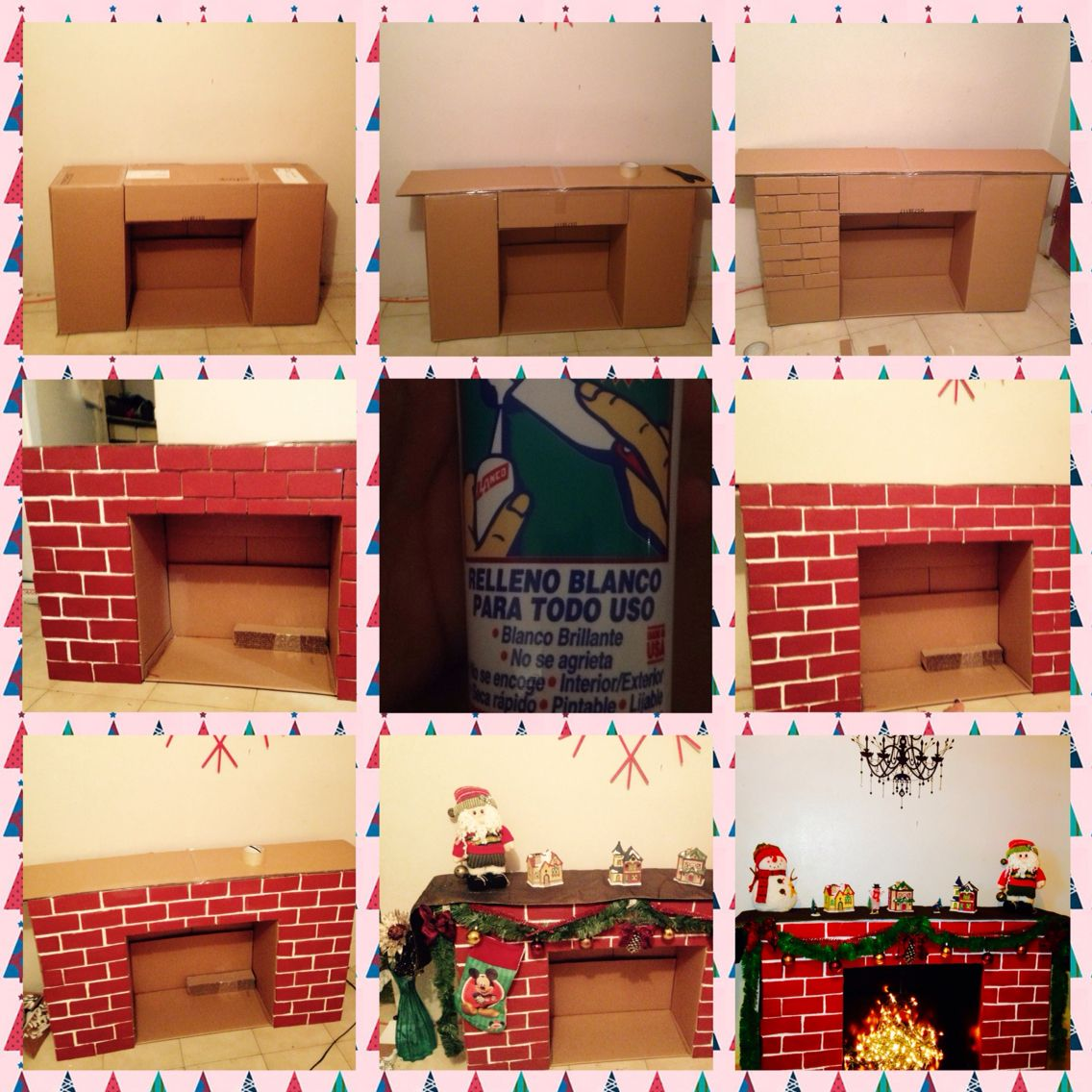 DIY Cardboard Fireplace u jojo xmas projects Pinteu