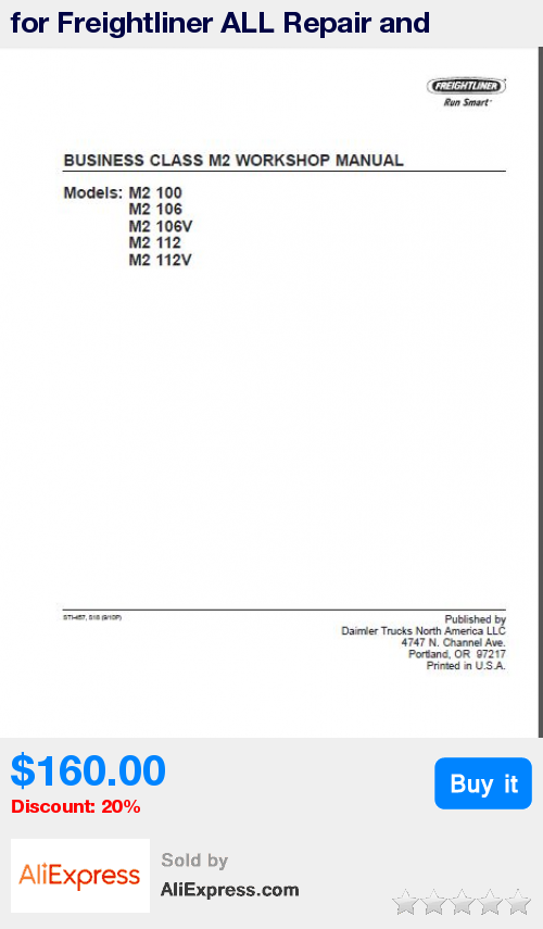 for Freightliner ALL Repair and Workshop manuals * Pub Date