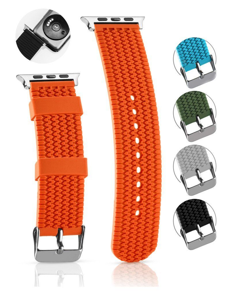 Orange Hermes Style Watch Strap For The Apple Watch Available At Www Bandrbands Com Apple Watch Bands Apple Watch Apple Watch Iphone
