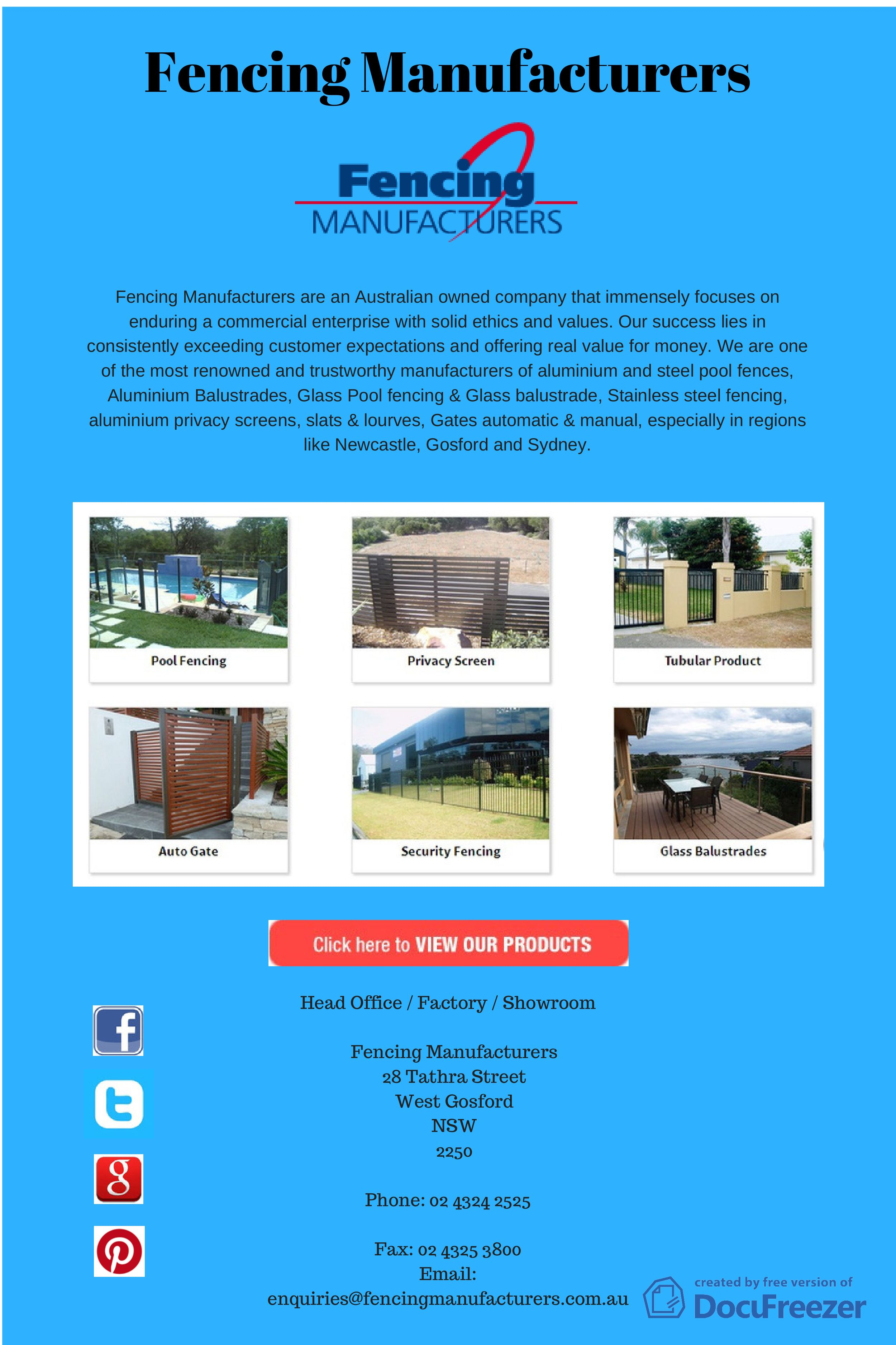 Pin By Fencing Manufacturers On Fencing Manufacturers Infographic Glass Pool Fencing Newcastle Fence
