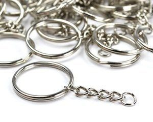 TWONE Metal Split Keychain Ring Parts - 100 Key Chains Wi...