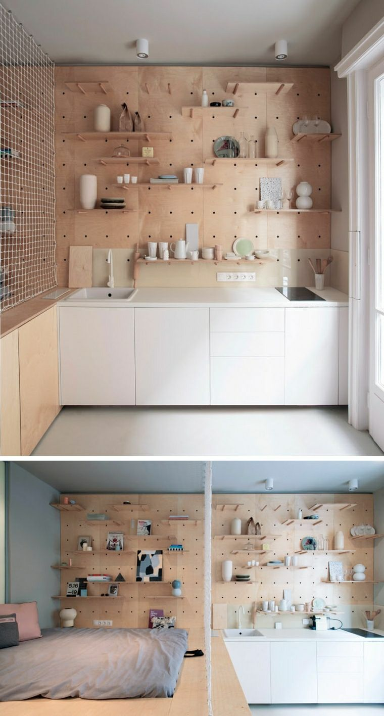 des id es d co partir d 39 un panneau isorel perfor panneau mur et longues. Black Bedroom Furniture Sets. Home Design Ideas