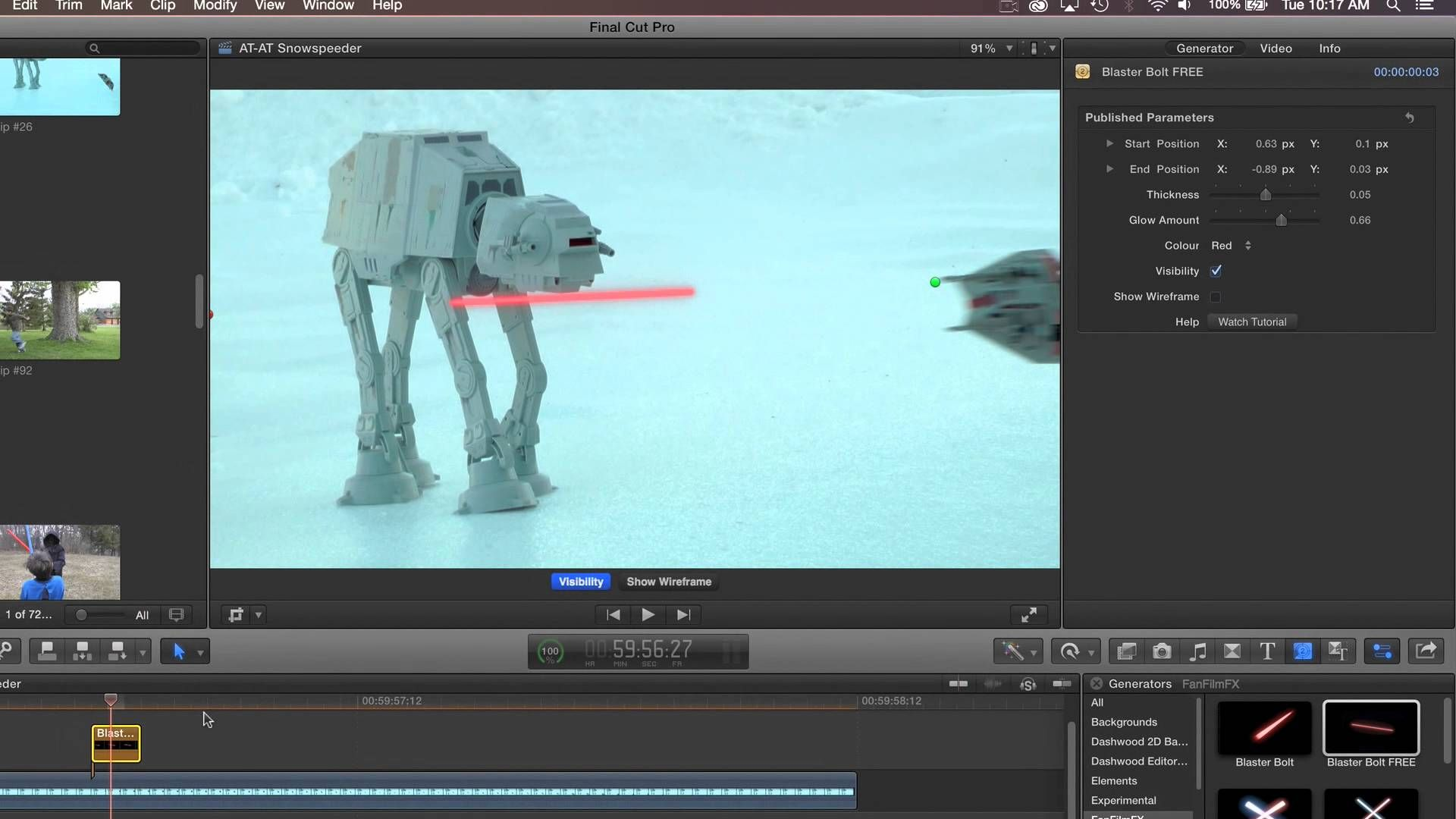 Blaster Bolt for FCP X, Premiere Pro, After Effects and