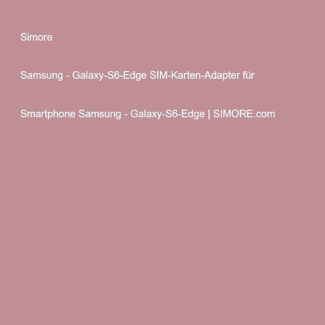 Adapter Für Sim Karte.Samsung Galaxy S6 Edge Sim Karten Adapter Für Smartphone Samsung