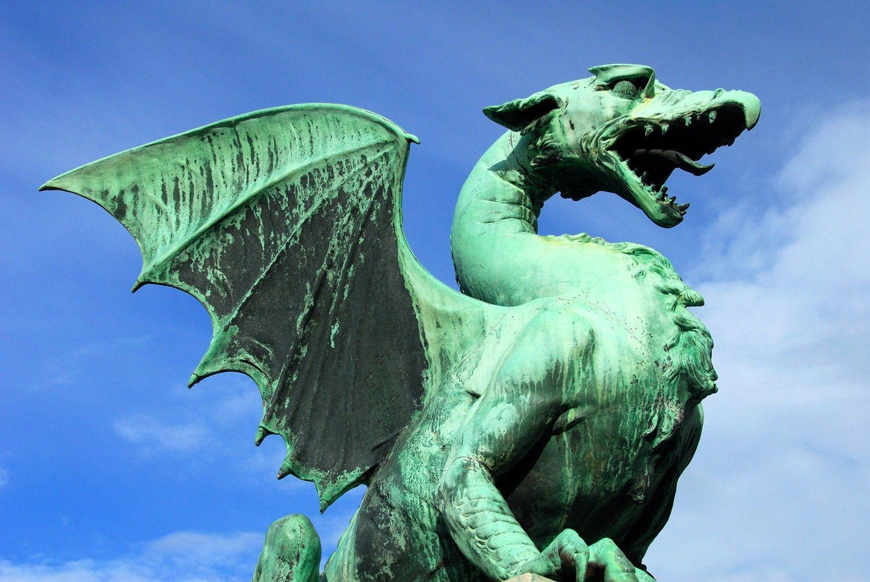 dragon bridge of of ljubljana slovenia famous dragons dragon
