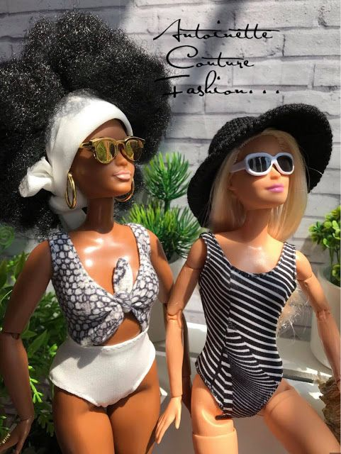 Fashion Dolls Couture - Unlimited: White & Black Stars #dollscouture