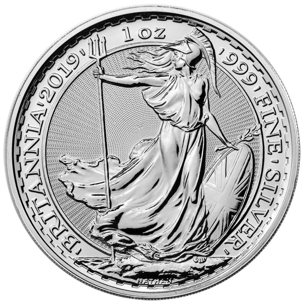 2019 U K 2 Pound Silver Britannia 999 1 Oz Brilliant Uncirculated Silver Bullion Silver Coins Silver Bullion Coins