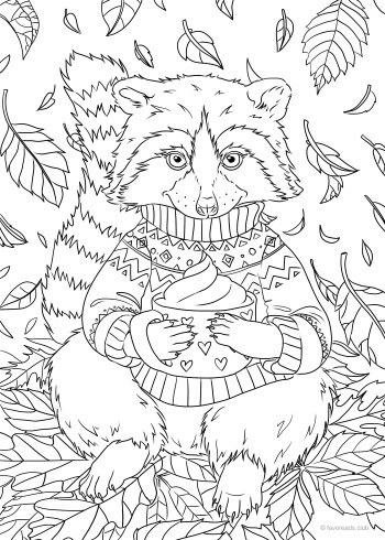 Raccoon Animal Coloring Pages Thanksgiving Coloring Pages Disney Coloring Pages