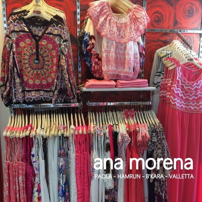 Stores in Paola, B'kara, Hamrun and Valletta. www.anamorena.eu