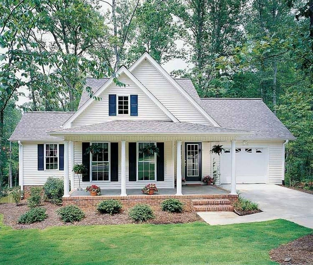 48 Brilliant Small Farmhouse Plans Design Ideas In 2020 Small Cottage House Plans Cottage House Exterior Country Style House Plans