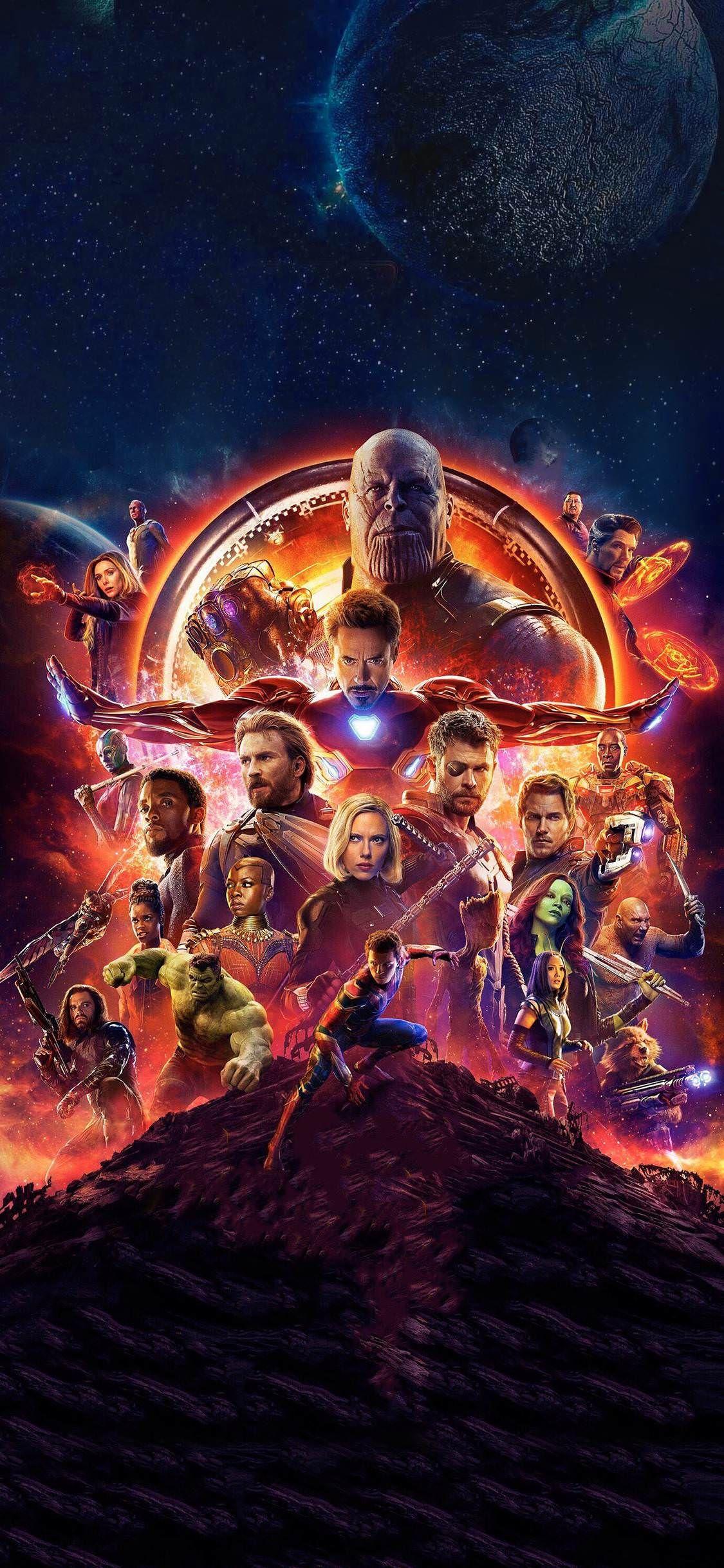 Sharing my Infinity War iPhone X wallpaper Vingadores