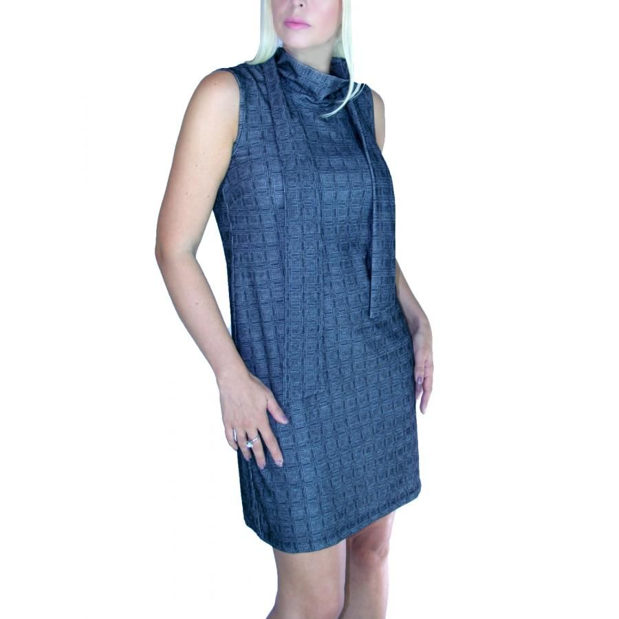 91d3964c871c ATTRATTIVO Αμάνικο midi φόρεμα με γραβάτα-κασκόλ