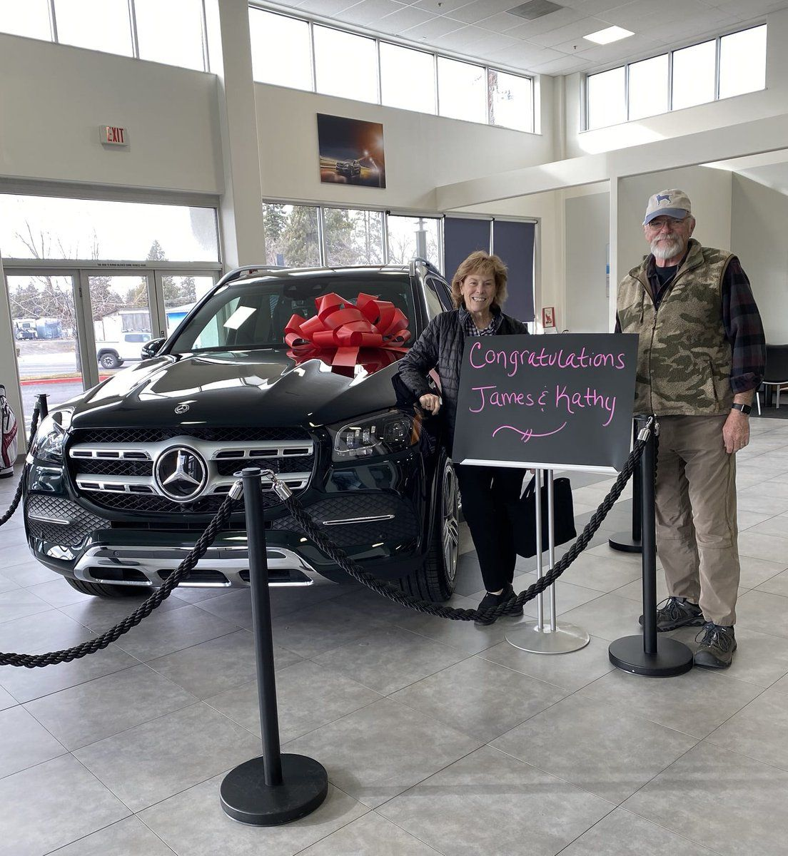 James And Kathy Dennis Our Compliments On Finding Such A Beautiful New 2020 Mercedes Benz Gls450 At M Mercedes Benz Service Mercedes Benz Mercedes Benz Parts