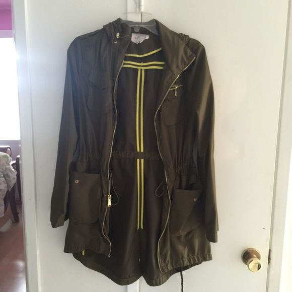 Bcbg military anorak Great condition! Waterproof. BCBGeneration Jackets & Coats