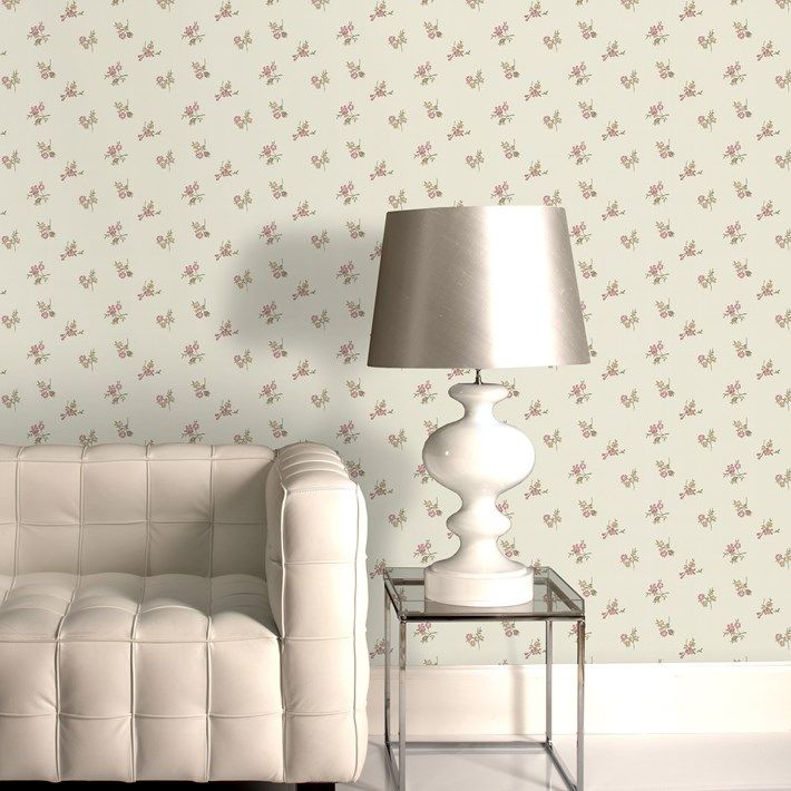 Add Elegance To Any Room With The Small Rose Motif Of Rosebud Cream Fl Wallpaper In Beige Pink Vintage Wall Coverings By Graham Brown