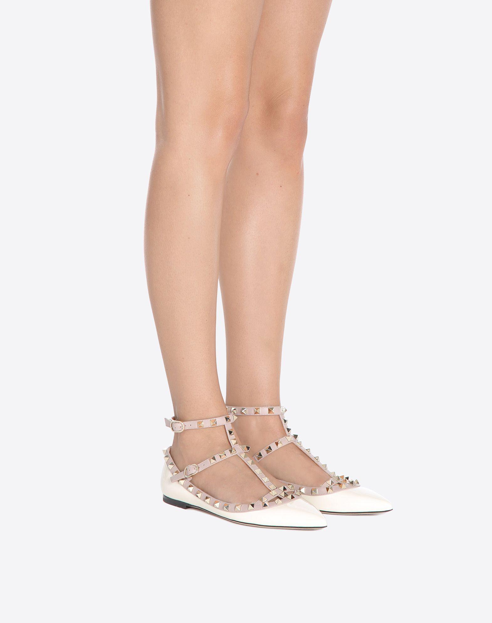 a2fdff90920c VALENTINO GARAVANI Rockstud patent Ballerina cage flat Ballerina D a ...