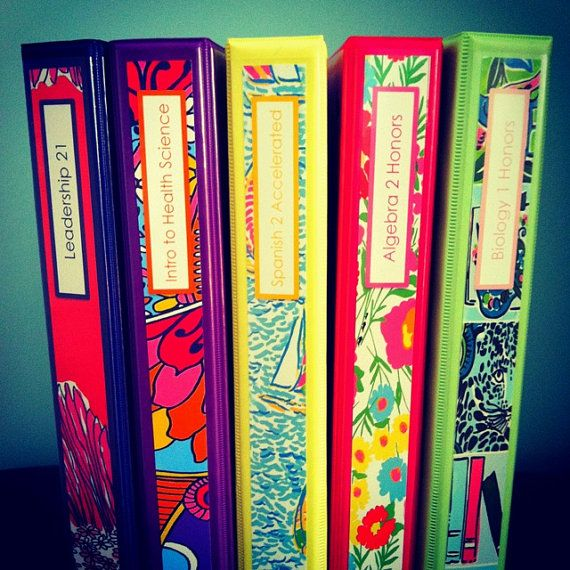 Set Of Five Personalized Lilly Pulitzer Inspired Binder