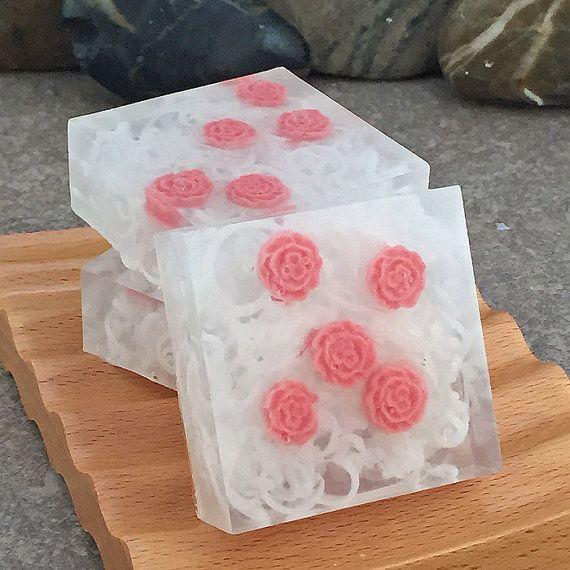 빨간 장미 글리세린 비누 바는 - 주문 제작 (3) 광장 고객 크기의 설정