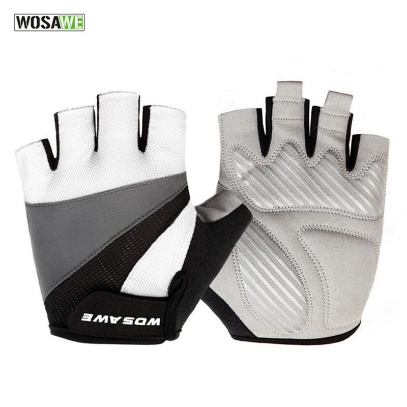 Men Cycling Gloves Half Finger Breathable Anti Skid Sports Riding Racing Bicycle