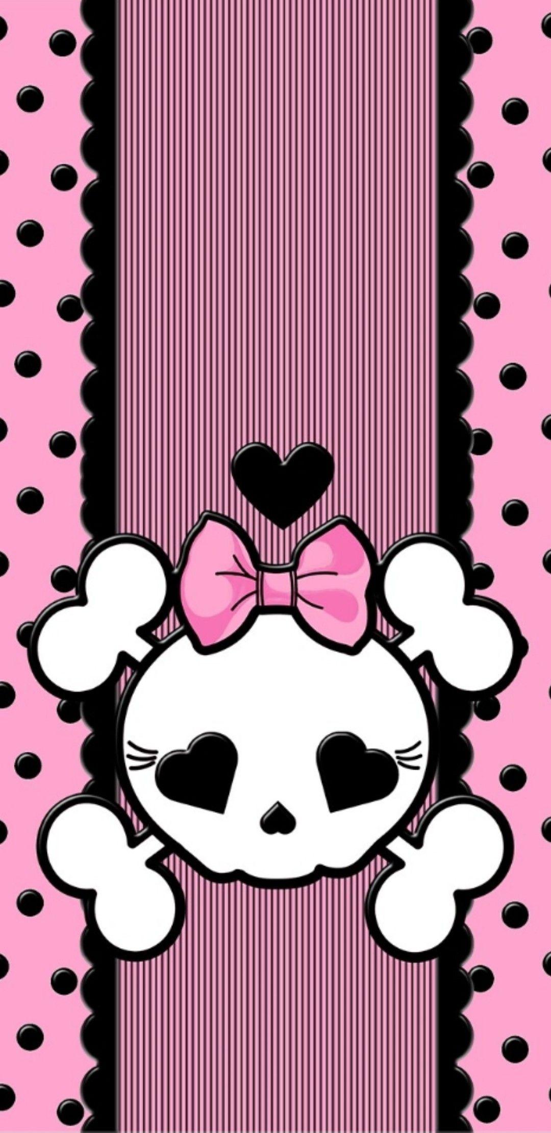 Pin By Nikkladesigns On Skulls Pink Skull Wallpaper Skull Wallpaper Phone Wallpaper Patterns