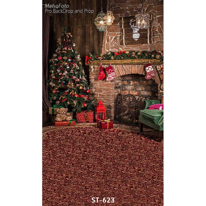 Cheap Christmas background vinyl photography backdrops Computer