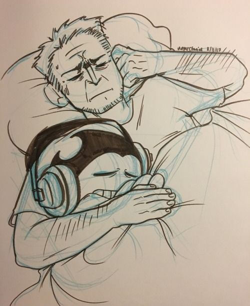 Aww Look At Henry Letting Bendy Sleep With Him Bendy And The