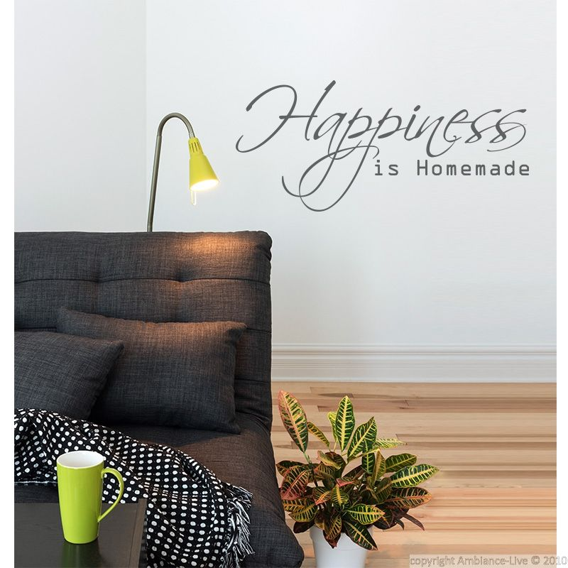 sticker happiness galerie stickers citations anglaises. Black Bedroom Furniture Sets. Home Design Ideas