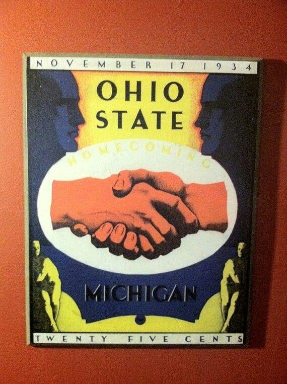 Michigan Ohio State 1934 Vintage Football Program Ohio
