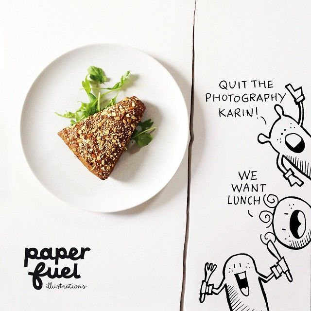 Having a very, very late lunch with the happies! ;-) #lettering #lunch #paperfuel