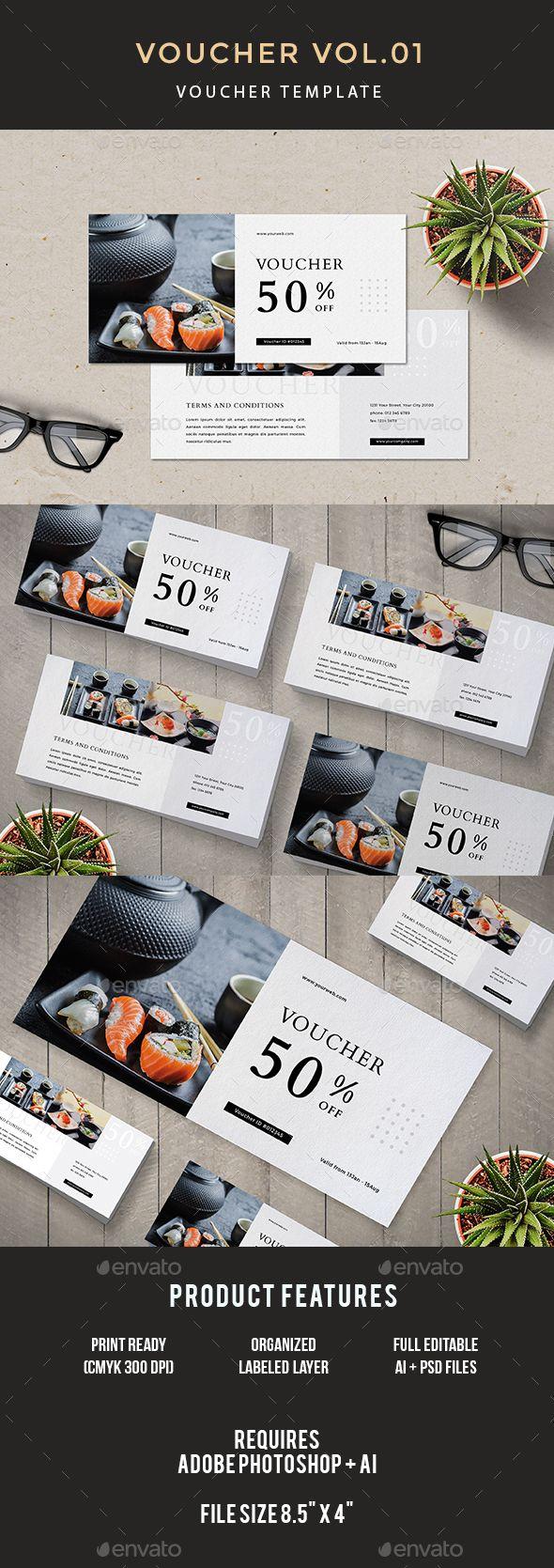 Voucher cards coupons and gift voucher design voucher xflitez Choice Image