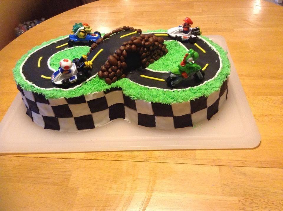 Mario Kart Race Track Birthday Cake Racing Cake Mario Kart Party Race Track Cake