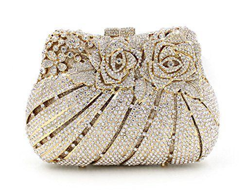 Flada Luxury Rhinestone Women Glitter Clutches Purse Evening Party Bags