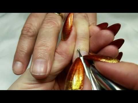 Electric File Cuticle Work - YouTube