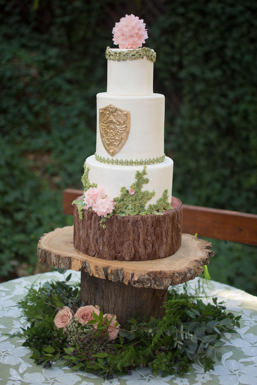 Zelda Wedding cake. Hyrule shield. Woodland wedding ...