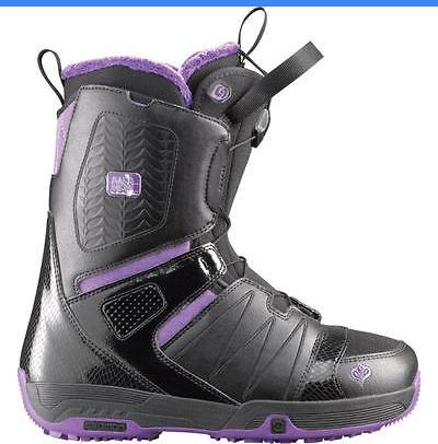Boots 36292: Salomon Pearl Black Womens Snowboard Boots BUY IT NOW ONLY: $49.95
