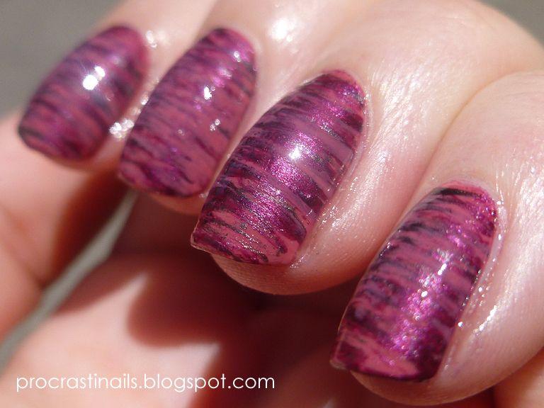 Fan Brush Nail Art | Metallic nails | Pinterest | Fan brush, Fan ...