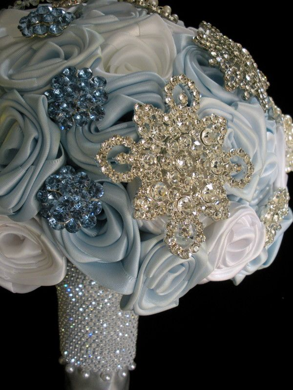 Ice Blue And Silver Wedding Ice Blue Snowflake Crystal