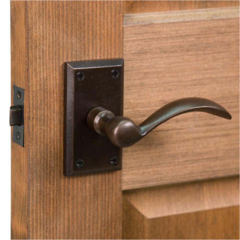 Thurston Rectangular Solid Bronze Lever Set Privacy Passage And Dummy Door Handles Door Handles And Locks Signature Hardware
