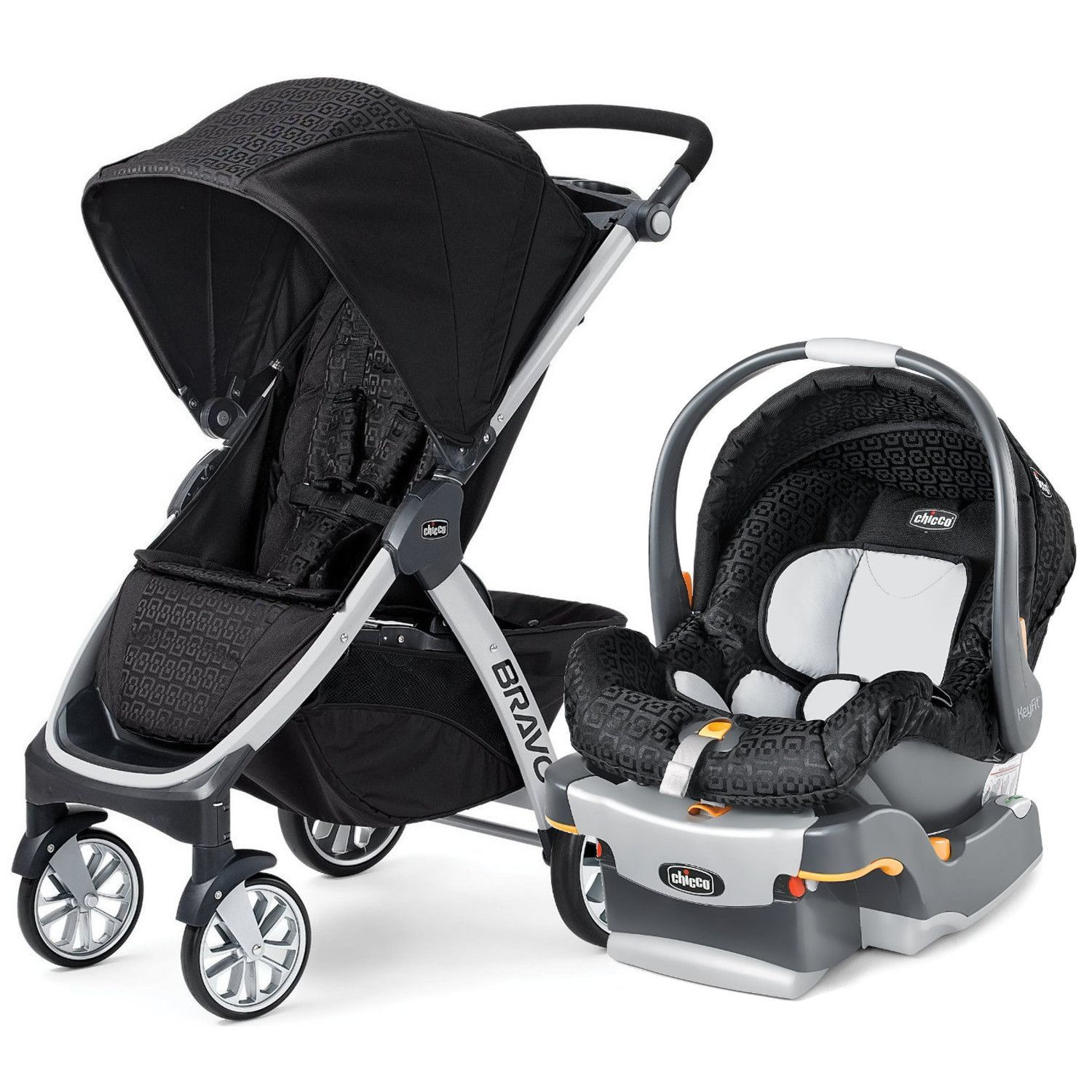 Chicco Bravo Stroller With KeyFit 22 Infant Car Seat