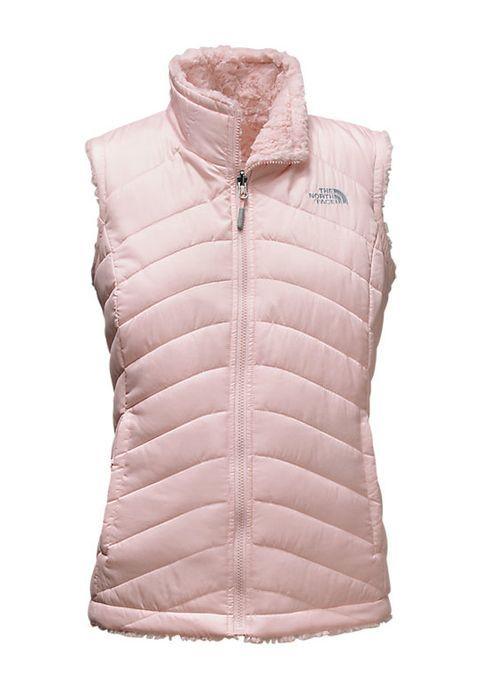 0e984f0b13ac Women s Mossbud Swirl Reversible Vest in Purdy Pink by The North Face  reverses from Raschel swirl fleece to wind-resistant taffeta.