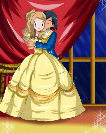 Beautiful ♡ Amourshipping ^.^ ♡ Credits to whoever made this fan art