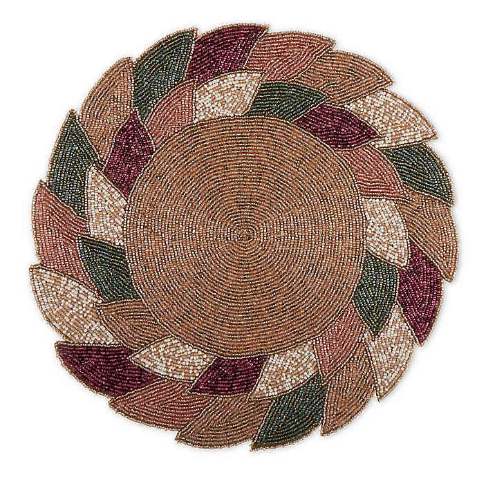 Beaded Autumn Leaves Placemat In Spice Bed Bath Beyond