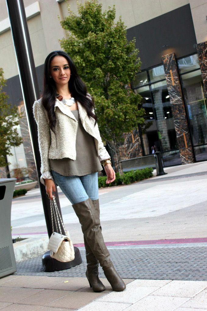 1000  images about Over the Knee Boot Outfit on Pinterest | Over